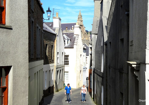 The Main Street Of Stromness by orquil