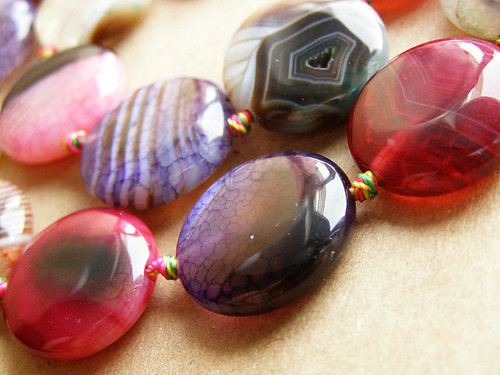 "Agate ""dragon vein"" Multi - Beads (disc)"