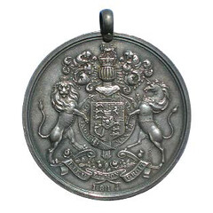 George III Indian Peace medal 1814 reverse