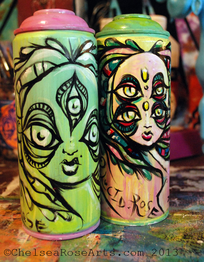 Custom Painted Cans