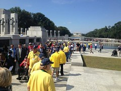 Iowa Honor Flight vets enter shutdown World War II Memorial