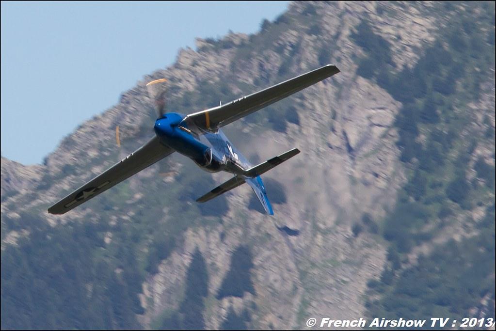 P-51 Mustang F.AKARY ,Fete de l'air,Courchevel Saut à Ski 2013
