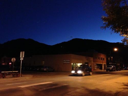 Pearl St. at night, Boulder