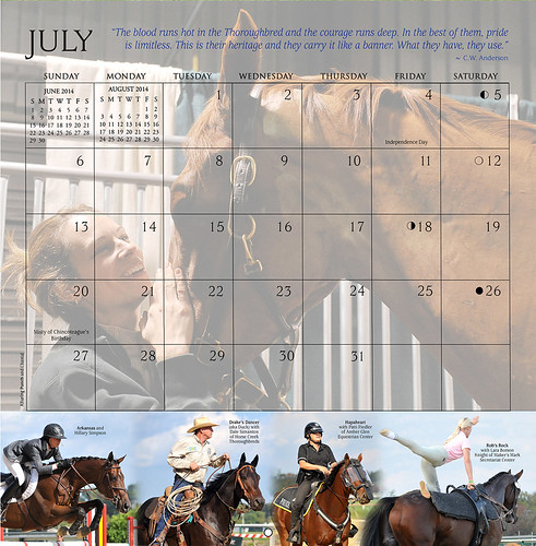 Horses and Hope calendar preview: JULY