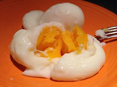 boiled egg(0.0), produce(0.0), meal(1.0), breakfast(1.0), egg(1.0), food(1.0), dish(1.0), egg yolk(1.0), dessert(1.0), cuisine(1.0),