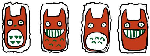 Spam Musubi Drawing Totoro Plus Spam Musubi