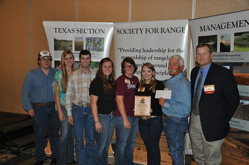The Texas A&M Plant Identification team placed 1st at the recent Texas Section Society for Range Management Meeting in Fort Worth, TX