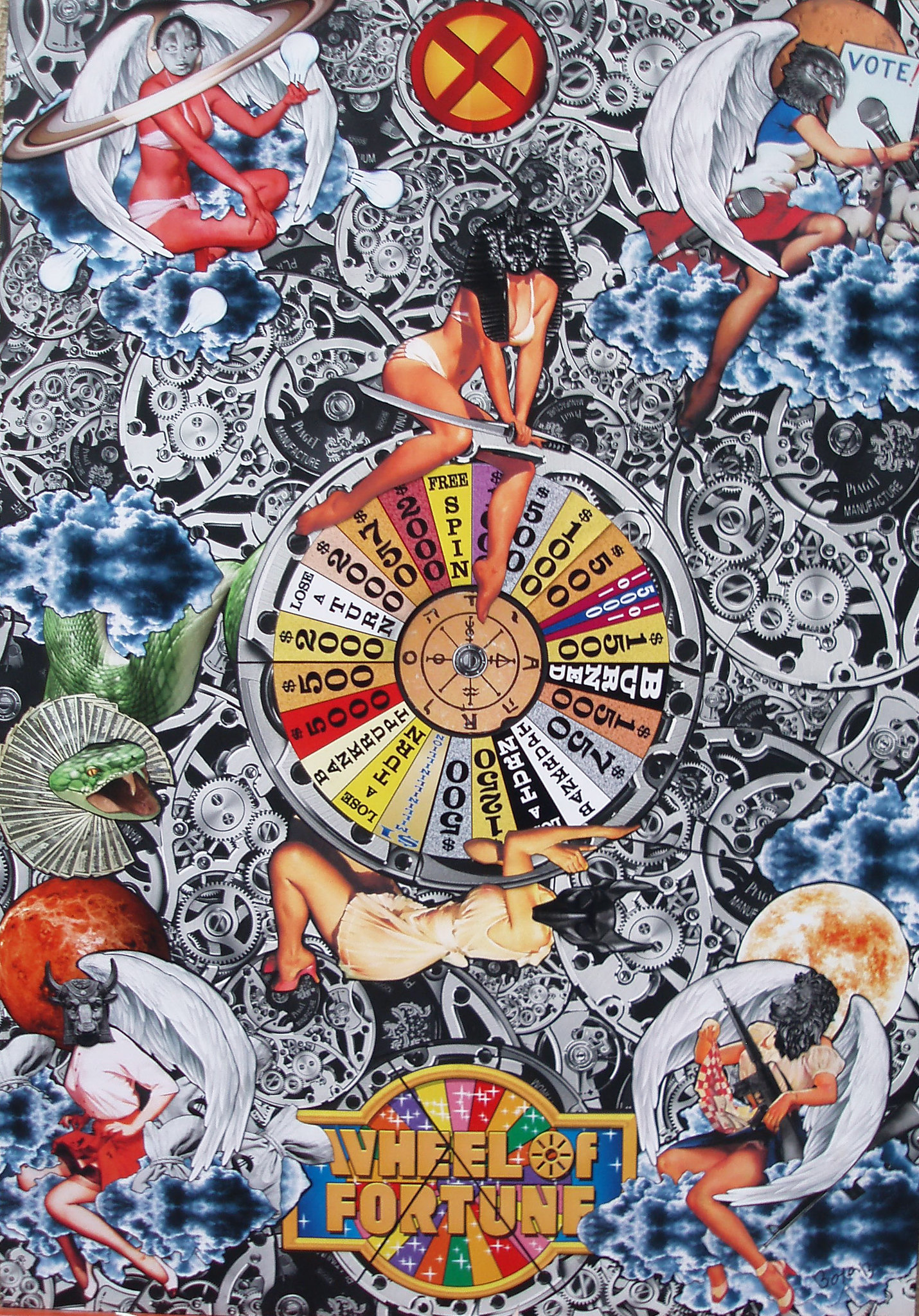 """Tarot Card Number 10 """"Wheel Of Fortune"""" Analogue…"""