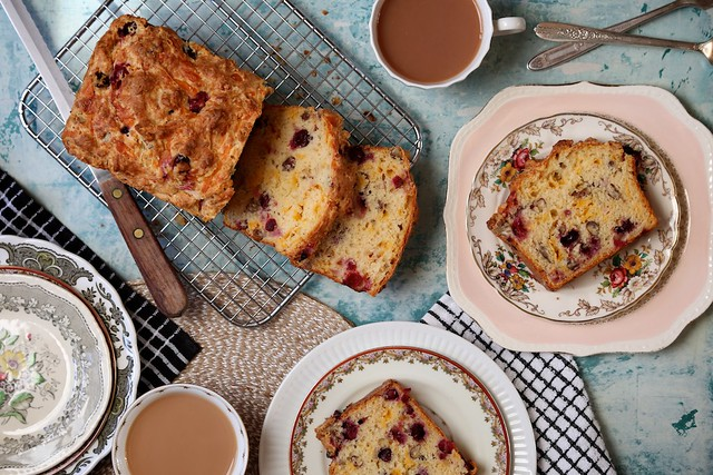 Savory Cheddar and Fresh Cranberry Soda Bread