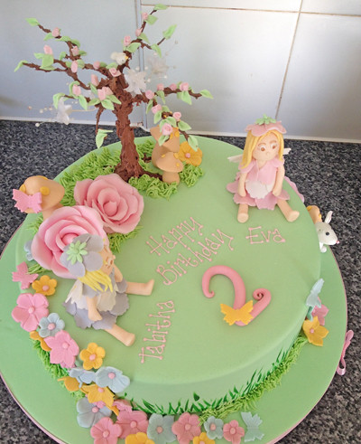 Garden cakes Fairy garden cake and Fairies garden on