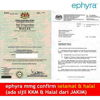 halal jakim for ephyra