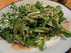 Watercress salad with sesame dressing at Kohnotori