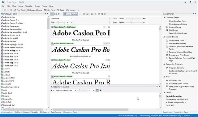字体管理软件 FontExpert 2014 12.0 Release 2 破解版