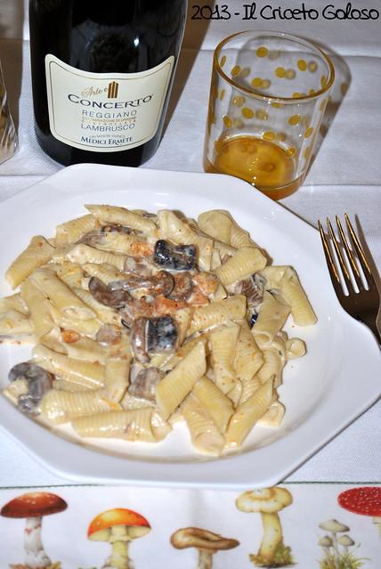 Garganelli con funghi, zucca e amaretti (3)