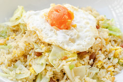 Fried Rice with Chinese Sausage  and Salted Egg Yo…