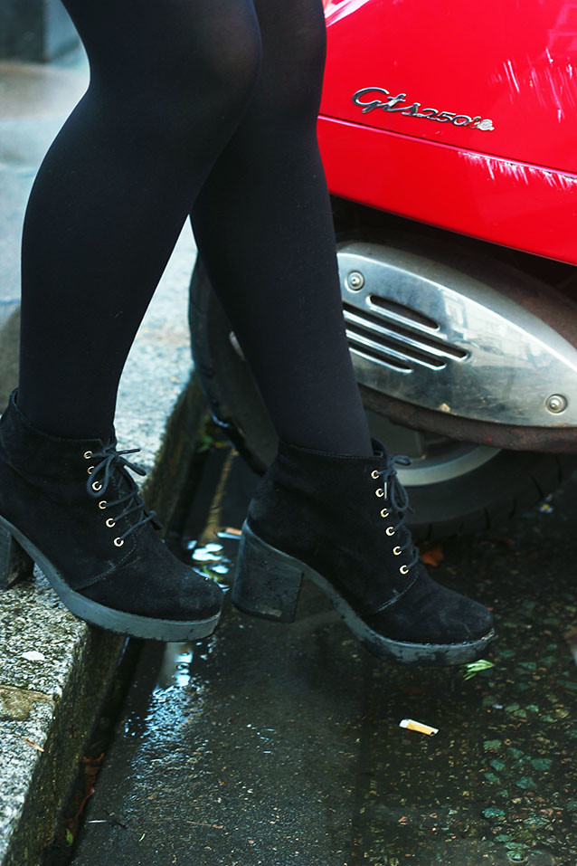 Lace up black Topshop boots