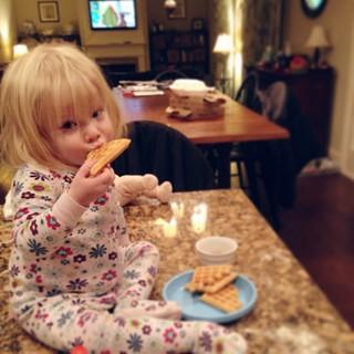 Waffles.  6:05am on a Saturday.