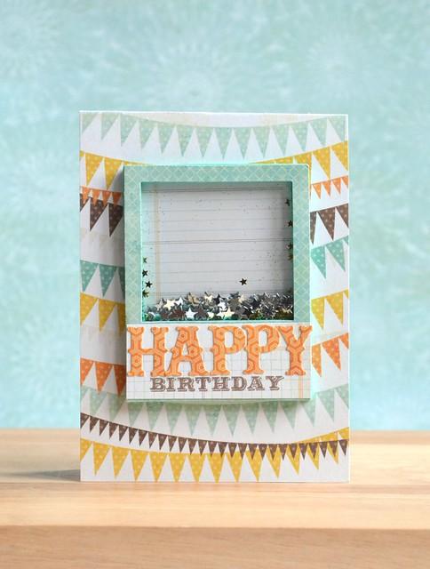 Happy Birthday Star Shaker Card