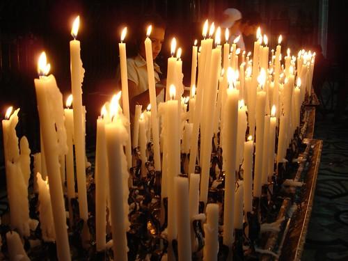 <p>Candles in the Duomo, Milan</p>