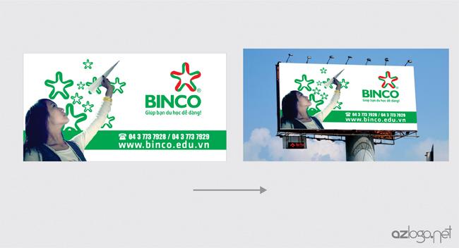 Thiết kế biển quảng cáo tấm lớn công ty tư vấn du học BINCO
