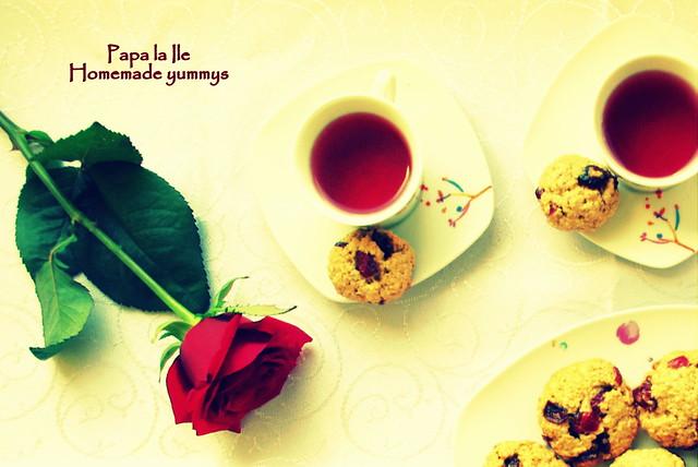 Biscuiți de ovaz cu merișoare... poze (8)