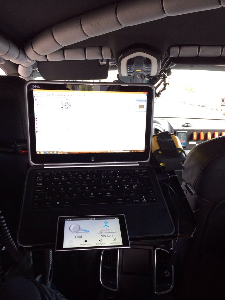 Control center test from back of cayenne