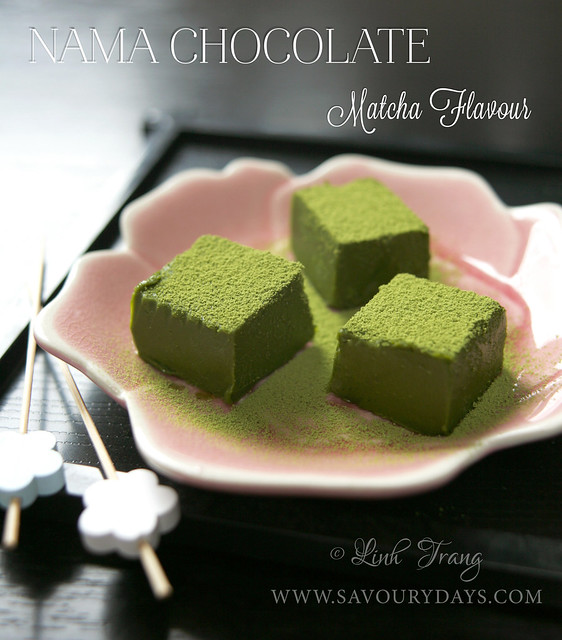 Nama chocolate - Green tea powder