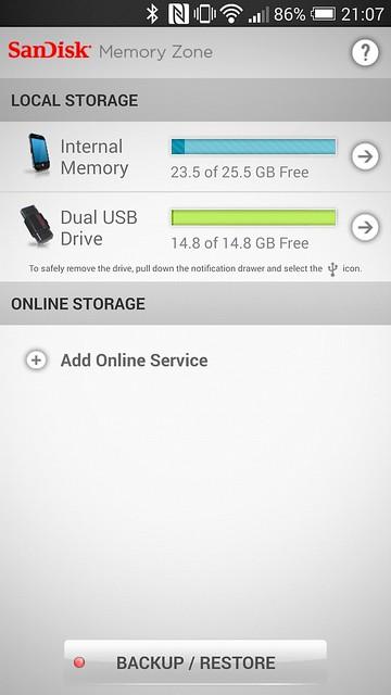 SanDisk Memory Zone App - Local Storage