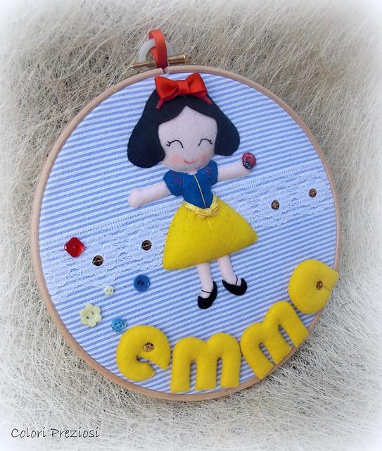 Quadretto al telaio - Biancaneve e...Emma! ^_^