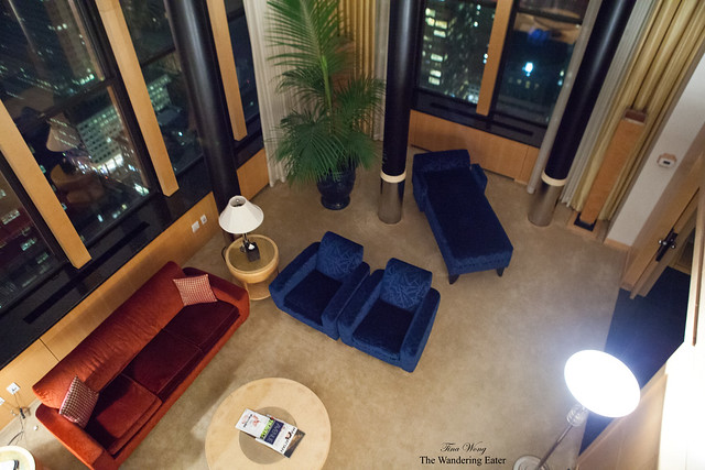 Living area at another three-floored suite