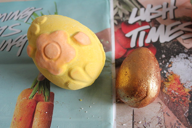 Lush easter bath soaps and bath bombs review