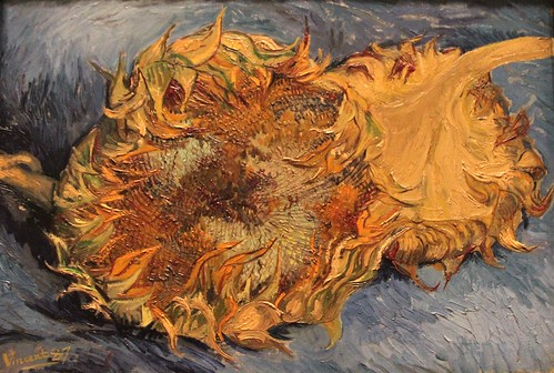 """Sunflowers"" by Vincent van Gogh, 1887"
