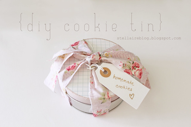 diy cookie tin