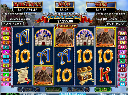 free Mystic Dragon free spins feature