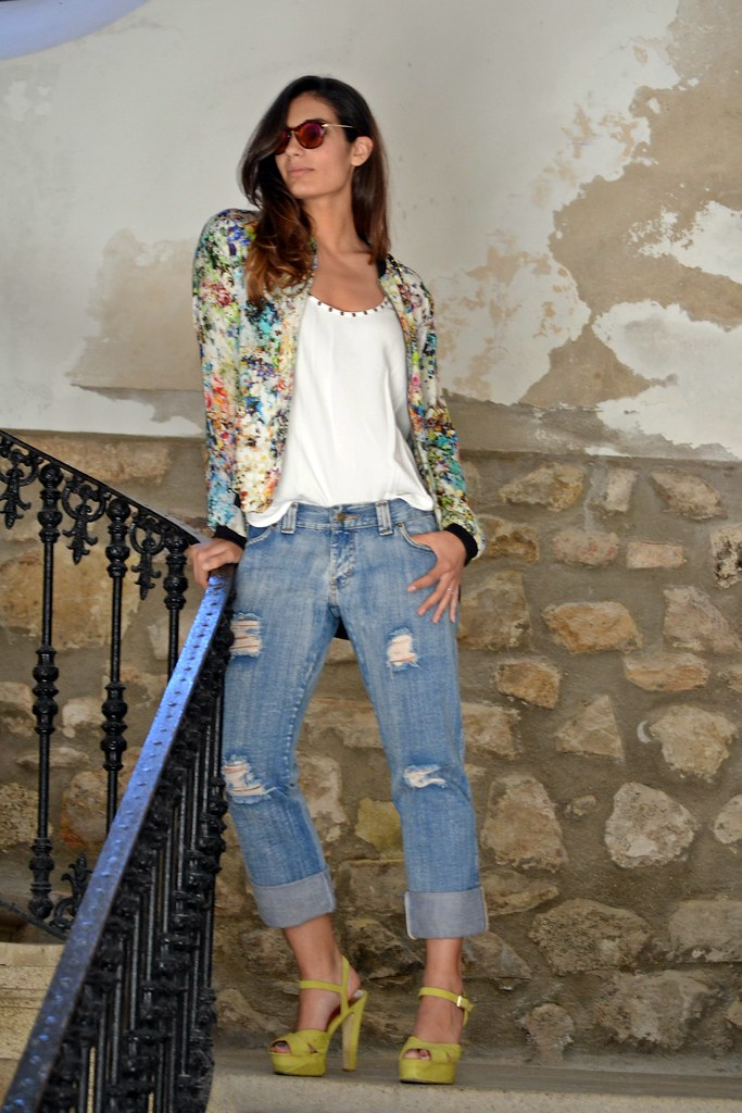 ripped jeans d&g