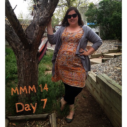 #mmmay14 #memademay day 7! Me made Washi dress and leggings. Can you tell it's windy in New Mexico? #washidress