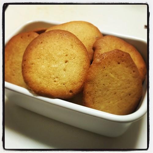 ラングドシャ焼いた。 うーん、普通のクッキーと変わらないような…