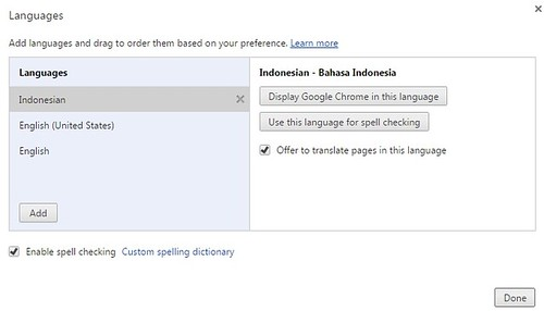 Bahasa google chrome
