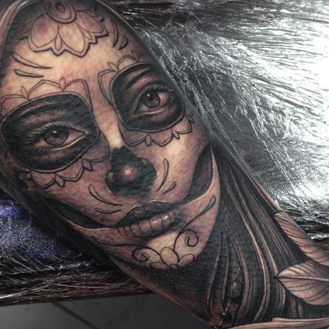 Day Of The Dead Girl Tattoo By Craig Holmes @ Iron Horse