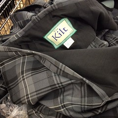 Another #Lidl oddity: kilts. In South London.