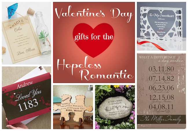 Valentines Day Gifts For The Hopeless Romantic at Personalization Mall