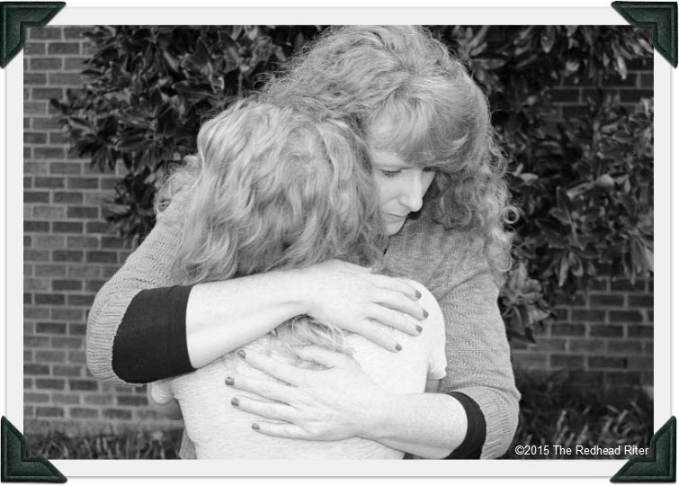redhead sherry riter and daughter alyssa - mother hugging daughter