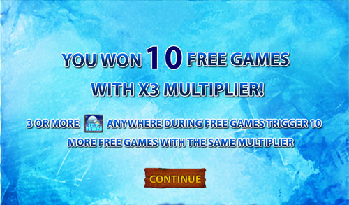 free Ice Run slot free spins feature win