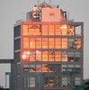 Highline building at Dawn