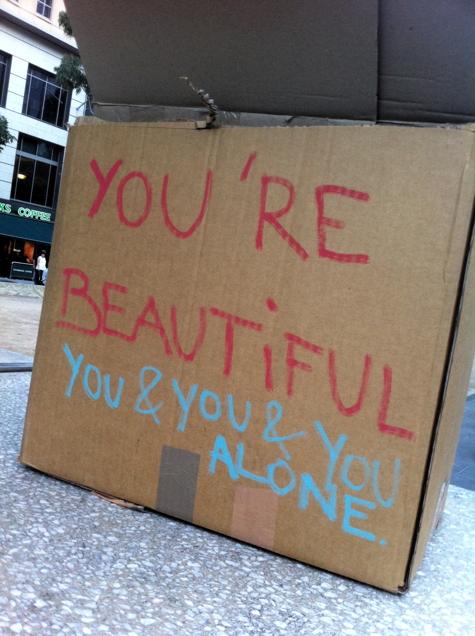 You & you & you alone
