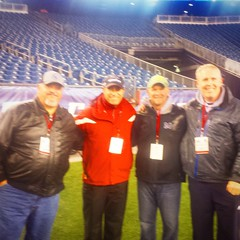 Me with my boys at Gillette working 2014 MIAA State Football Championships. Great games even with all the rain.