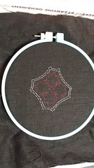 The stitched outline