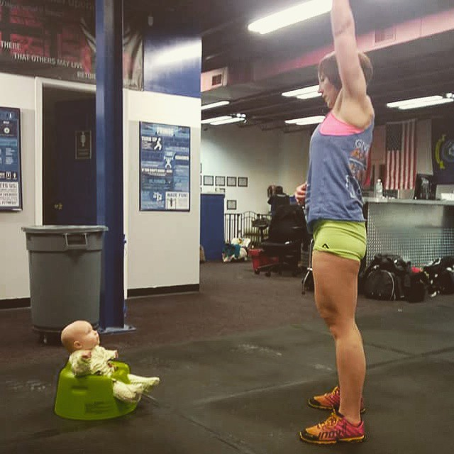 Explaining the finer points of midline stability in the overhead position to Kaitlan. She enjoys watching us train, and I can't wait to see where that goes...