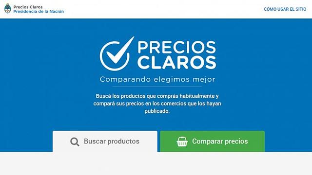 Pagina Oficial de Precios Claros