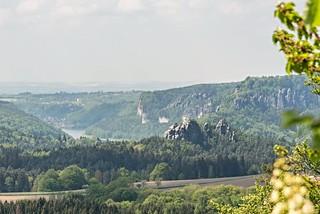 Brandaussicht Elbtal und Bastei